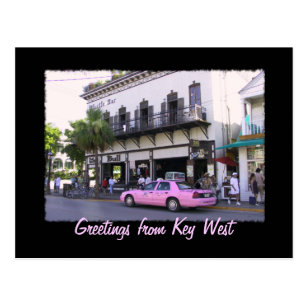 Key West Stier und Pfeife-Bar Postkarte