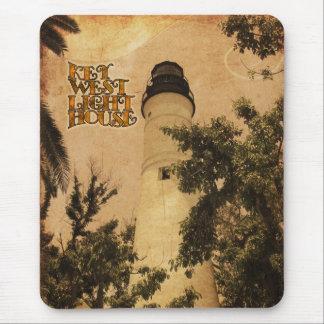 Key- Westleuchtturm-Vintages Foto Mousepads