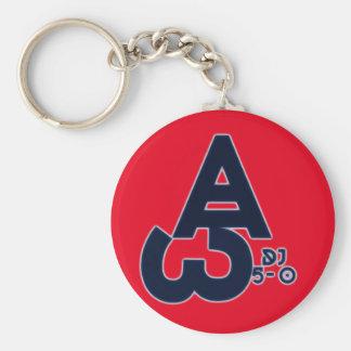 """Keychain """"ALPHA-OMEGA"""" Logo mit DJ5-0 Schlüsselanhänger"""