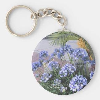 Keychain/blaue Blumen Schlüsselanhänger