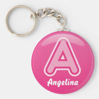 Keychain Buchstabe eine rosa Blase Schlüsselanhänger