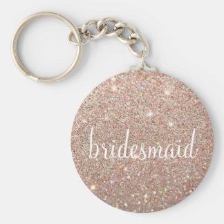 Keychain - Glitter-Fab Brautjungfer RoseGold Schlüsselanhänger