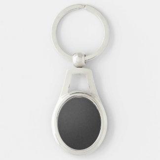 Keychain konstruierte mit Silber-farbigem Metall Schlüsselanhänger