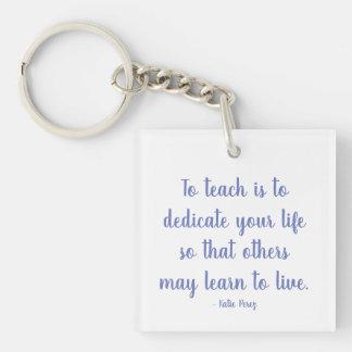 Keychain Lehrerzitat Schlüsselanhänger