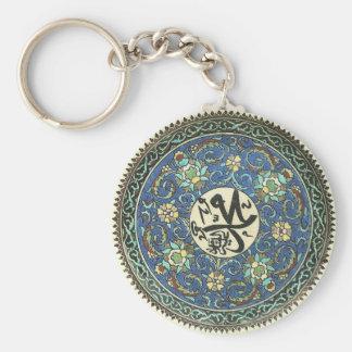 Keychain mit Entwurf von der antiken türkischen Standard Runder Schlüsselanhänger