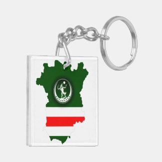 Keychain Simbol of Chechen Police + Map Beidseitiger Quadratischer Acryl Schlüsselanhänger