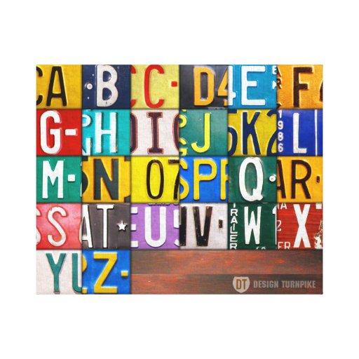 kfz kennzeichen buchstabe kunst alphabet zeichen gespannte. Black Bedroom Furniture Sets. Home Design Ideas