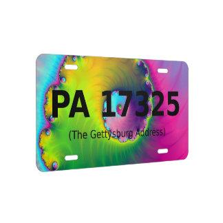 Kfz-Kennzeichen die Gettysburg-Adresse US Nummernschild