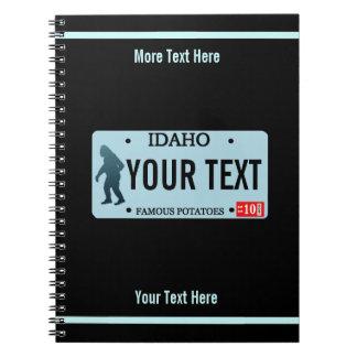 Kfz-Kennzeichen Idahos Sasquatch Spiral Notizblock