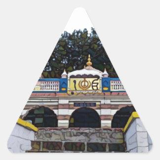 Khalsa Dreieckiger Aufkleber