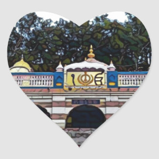 Khalsa Herz-Aufkleber