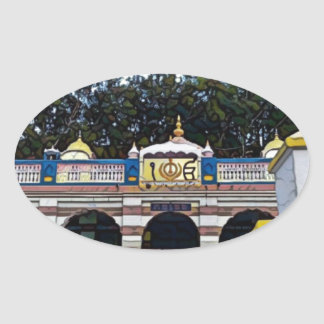 Khalsa Ovaler Aufkleber