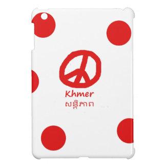 Khmer-Sprache und Friedenssymbol-Entwurf iPad Mini Hülle