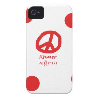 Khmer-Sprache und Friedenssymbol-Entwurf iPhone 4 Hülle