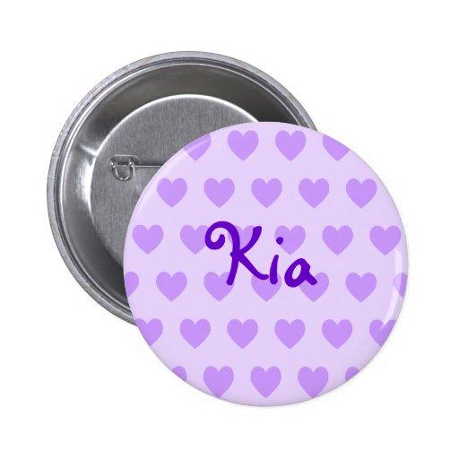 KIA in Lila Anstecknadelbuttons