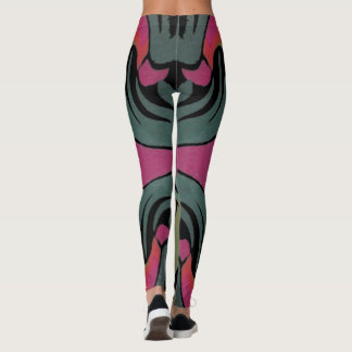 Kicky Spaß-Mode Gamaschen-Aquamarin/Rosa/Schwarzes Leggings