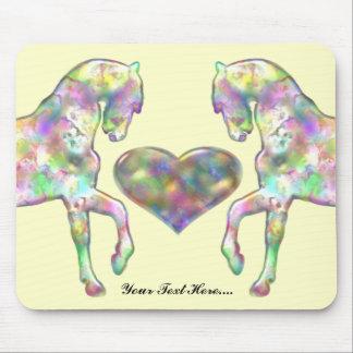 Kiddies Pferd und Liebe-Herz Mauspads