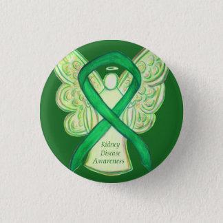 Kidney Disease Awareness Angel Ribbon Art Buttons