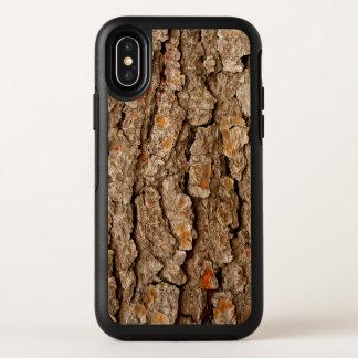 Kiefer-Barken-Beschaffenheit OtterBox Symmetry iPhone X Hülle