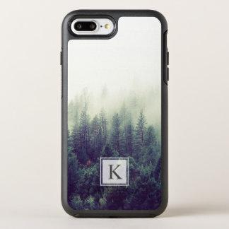 Kiefer-Waldmoderne schicke Monogramm-Initiale OtterBox Symmetry iPhone 8 Plus/7 Plus Hülle