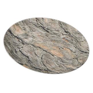 Kiefern-Barke Melaminteller