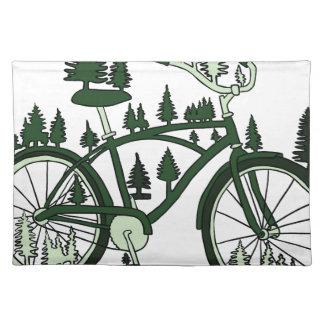 Kiefern-Fahrrad Stofftischset