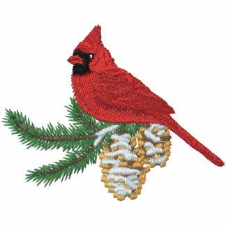 Kiefern-Kardinal Besticktes Hoodie
