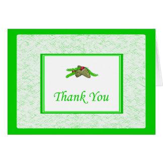 Kiefern-Kegel danken Ihnen, mit grüner Grenze zu Karte