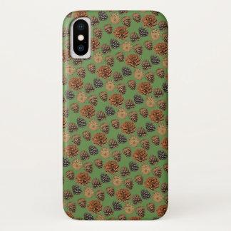 Kiefern-Kegel iPhone X Fall iPhone X Hülle