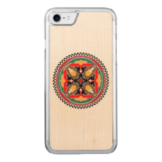 Kiefern-Kegel-Stammes- Entwurf Naturea Liebhabers Carved iPhone 8/7 Hülle