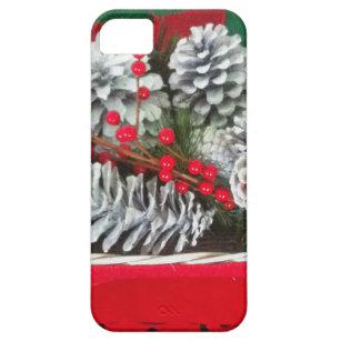 Kiefern-Kegel-Stechpalmen-Dekoration iPhone 5 Etui
