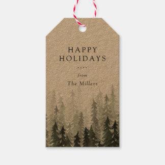 Kiefern-Waldfeiertag Geschenkanhänger