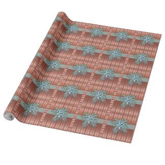 Kiefernkegel - Bogen + Streifen - LeinenPackpapier Geschenkpapier