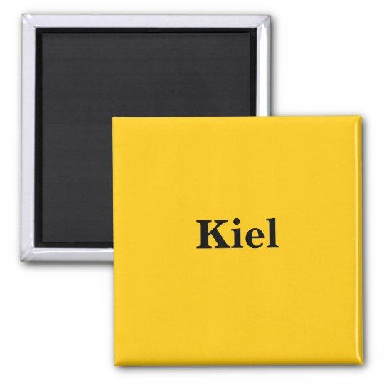 Kiel Magnet Schild Gold Gleb
