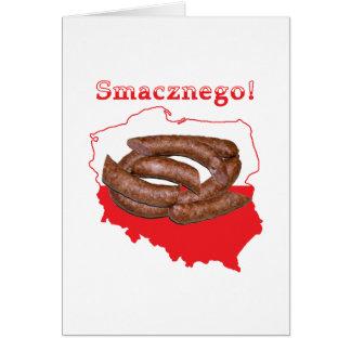 Kielbasa Smacznego polnische Karte