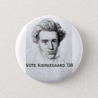 Kierkegaard '08 runder button 5,1 cm