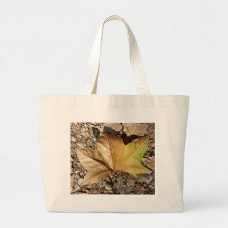 Kiesel und Blätter Jumbo Stoffbeutel