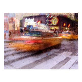Kiesiges NYC Taxi Postkarte