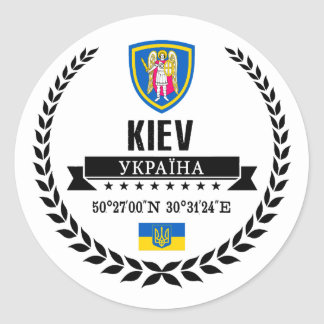 Kiew Runder Aufkleber