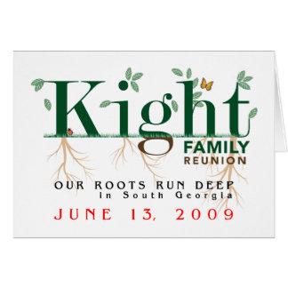 Kight Familien-Wiedersehen 2009 Karte