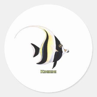 Kihikihi Fische Runder Aufkleber
