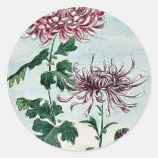 Kiku - Chrysantheme/Megata Ukiyo-e. Aufkleber