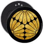 Kiku Chrysantheme-Montag-Gold auf Schwarzem
