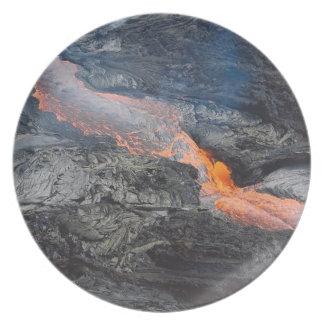 Kilauea Lavafluss Teller