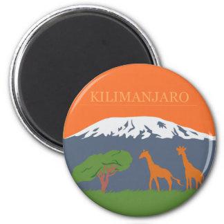 Kilimanjaro Runder Magnet 5,1 Cm