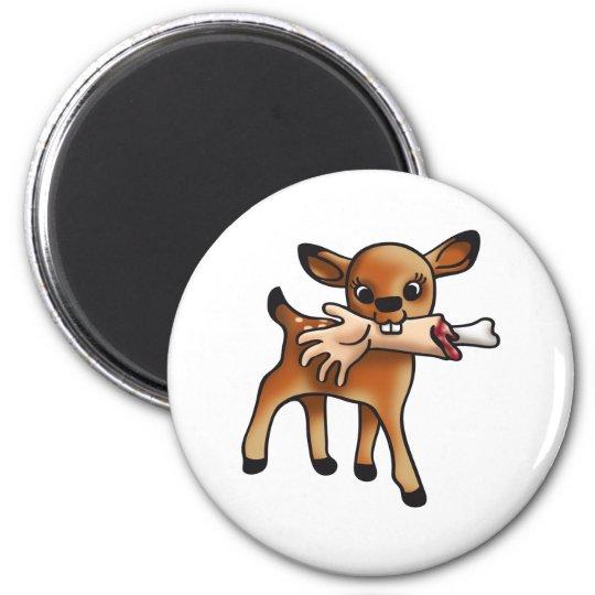 Killer Bambi Runder Magnet 5,7 Cm