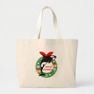 Killerwal der frohen Weihnachten Jumbo Stoffbeutel