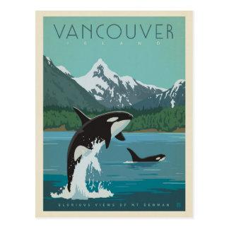 Killerwale Vancouver-Insel-| Postkarte
