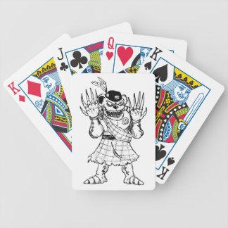 Kilted Bearman Bicycle Spielkarten