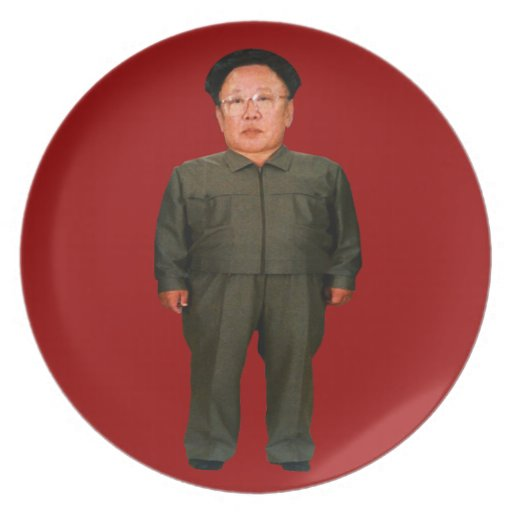 Kim Jong illin Flacher Teller
